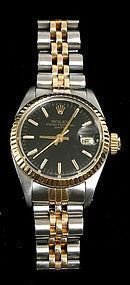Ladies' Rolex oyster perpetual date wristwatch