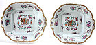Armorial Porcelain de Paris Chinese export style serving dishes