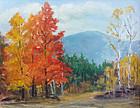 Frederick J. Wilder Autumn landscape painting, Woodstock, VT