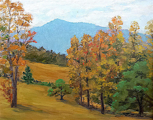 Frederick Wilder painting - View From the Orchard, Woodstock, VT