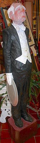 Jack Dowd sculpture - Hawes the Butler