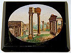 Roman Forum ruins antique micro mosaic glass plaque