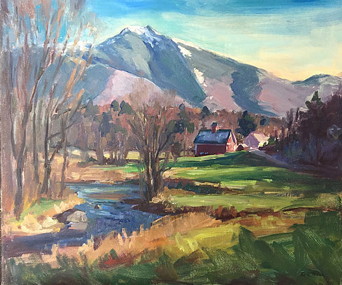 Eric Tobin painting - Early Snow on Mt. Mansfield, VT