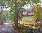 Eric Tobin painting - The Road Home summer Vermont landscape