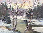 Eric Tobin painting - Silver Light on the Lamoille River