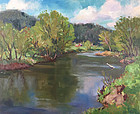 Eric Tobin painting - Lamoille Valley in Summer, Vermont