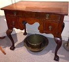 Continental walnut lowboy, 18th century
