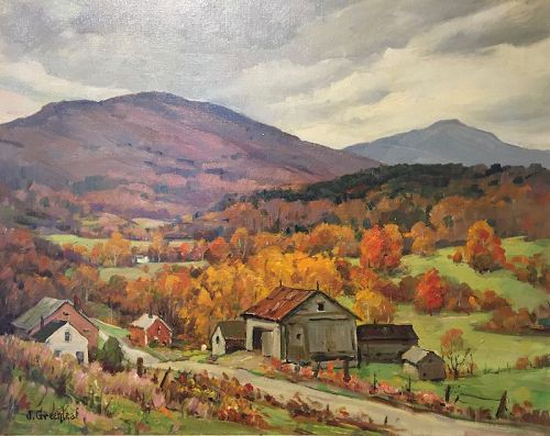 Jacob Greenleaf painting - Vermont Hills