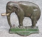 Bradley and Hubbard antique cast iron elephant door stop