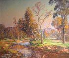 Thomas R. Curtin landscape painting - A meandering stream in autumn