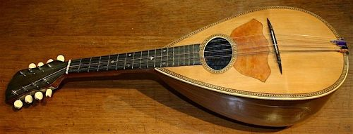 Bay State bowl back mandolin, Charles A. Stromberg, Boston label