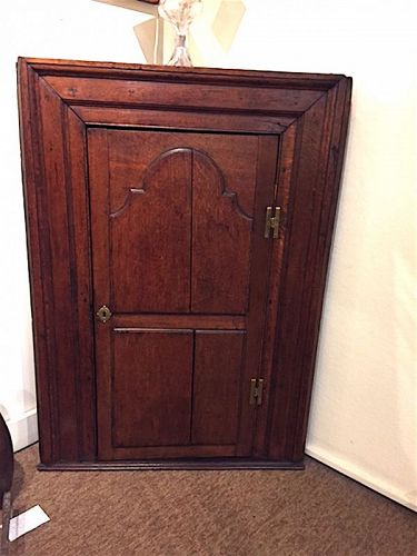 English Georgian hanging corner cupboard