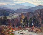 Thomas R. Curtin landscape painting - Mansfield from Fletcher Station