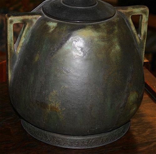 Fulper pottery Vasekraft table lamp, Arts and Crafts