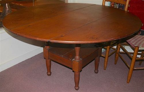 Large antique country hutch chair table