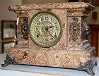 Seth Thomas faux marble adamantine mantel clock