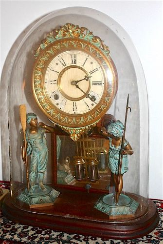 Ansonia Crystal Palace No. 1 Extra parlor clock with dome