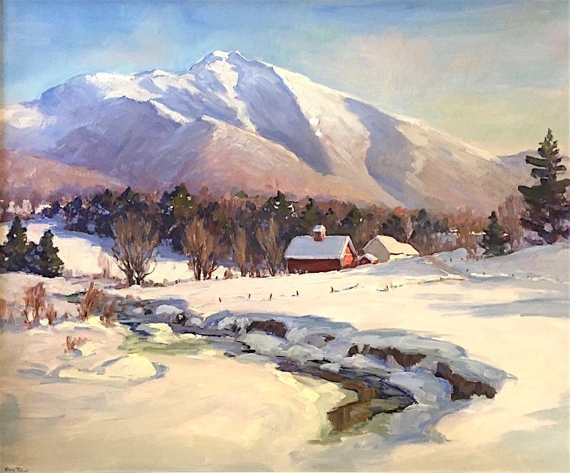 Eric Tobin painting - Mount Mansfield, Vermont, in winter