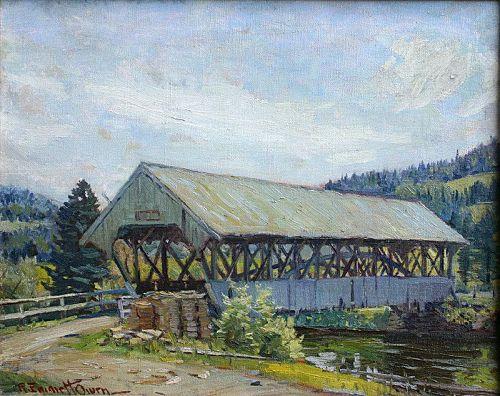 Robert Emmett Owen painting - NH Covered Bridge