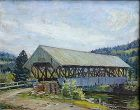 Robert Emmett Owen painting - NH Covered Bridge