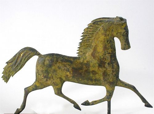 Antique Blackhawk trotting horse weathervane