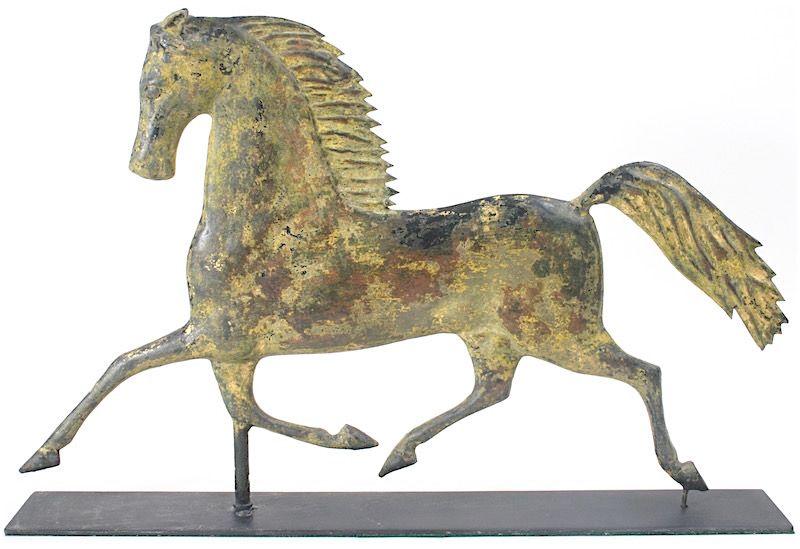 Antique Blackhawk trotting horse weathervane