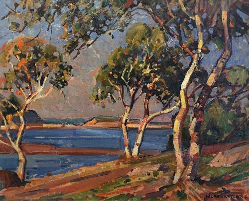 William Lester Stevens Massachusetts coastal landscape painting