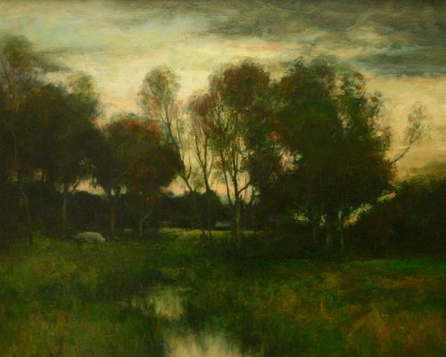 Dennis Sheehan painting - Twilight On A Marsh