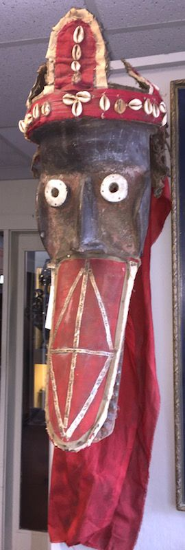 African carved Crocodile mask - Mano tribe
