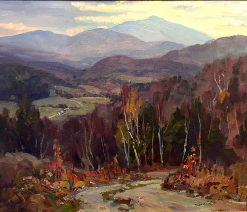 Thomas R. Curtin landscape painting - Mt. Mansfield Fletcher Point