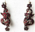 Antique Victorian garnet dangle earrings