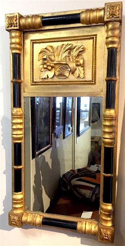 Federal split column looking glass mirror