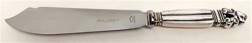 Georg Jensen Acorn sterling cake knife