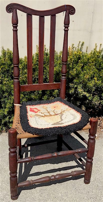 New England Queen Anne bannister back chair