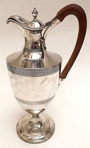 Georgian sterling silver wine jug, George Smith II