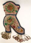 Native American Mohawk Iroquois beaded boot pin cushion