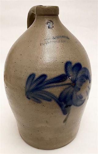 Cowden and Wilcox stoneware 2 gallon ovoid jug