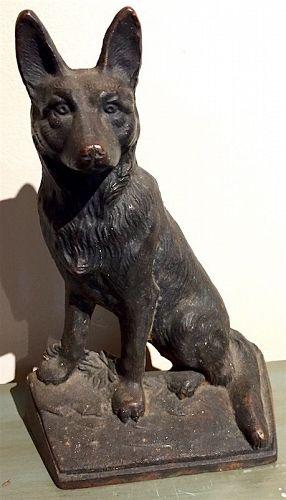 Hubley cast iron German Shepherd doorstop