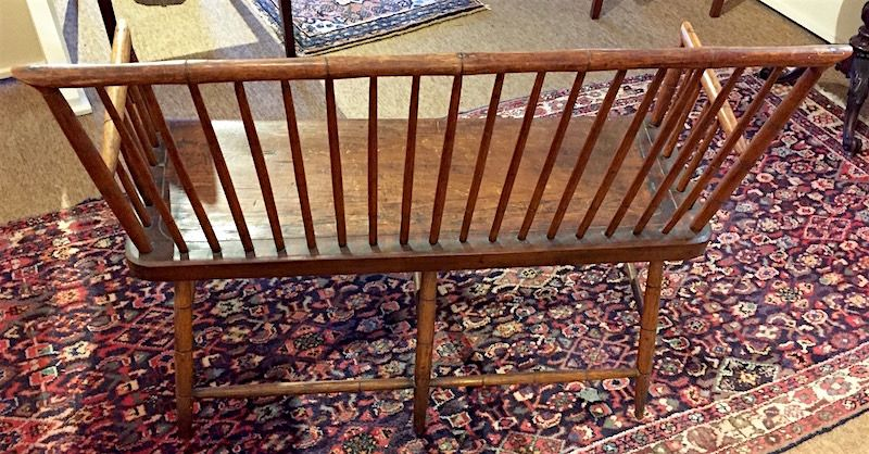 Early American small size Windsor bench settee