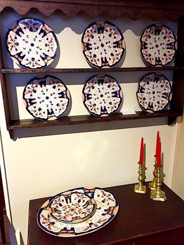 Ashworth Imari Ironstone china grouping, 19th C.