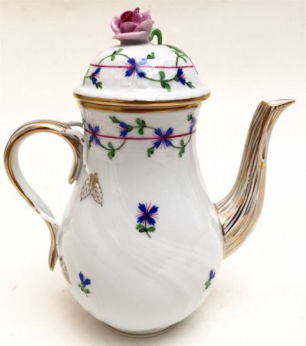 Herend, Hungary porcelain coffee pot
