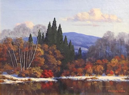 Francis Stillwell Dixon painting - Early Snow in Autumn, VT