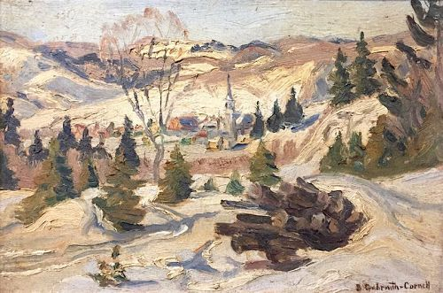 Elisabeth Galbraith-Cornell winter village landscape painting