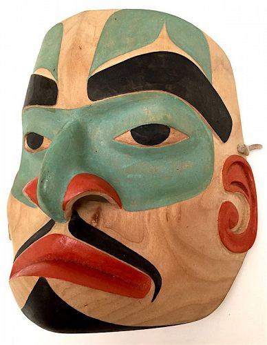 Pacific Northwest Coast carved polychrome mask