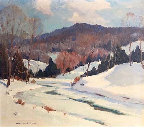 Gianni Cilfone winter landscape painting - Northern Vermont