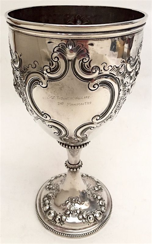 English sterling silver presentation goblet - 2nd Monmouth Rifle Co.