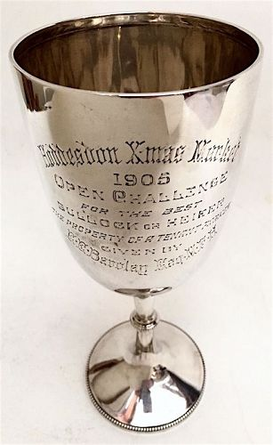English sterling silver Hoddesdon Xmas Market goblet trophy