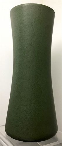 Marblehead Pottery corseted tall vase