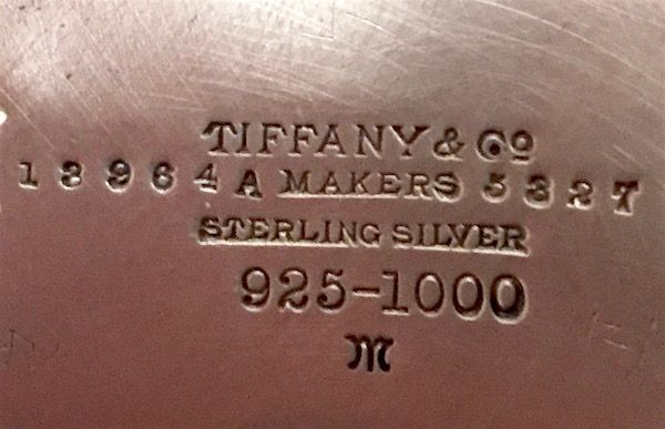 Tiffany and Co. sterling silver blackberry tazza