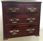 English miniature Victorian mahogany chest